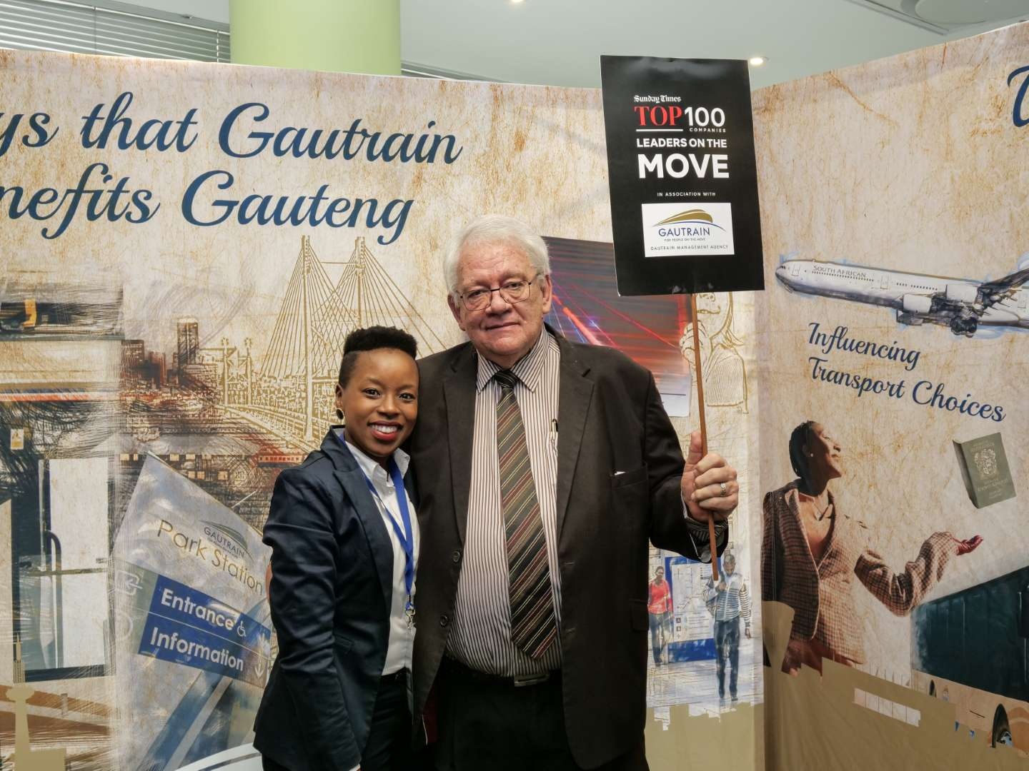 Photo from Leaders on the Move in September with Gautrain Management Agency