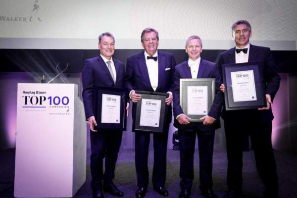 Photo from the Sunday Times Top 100 Companies Awards in 2017
