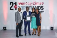 Photo from the Sunday Times Top Brands Awards in 2019